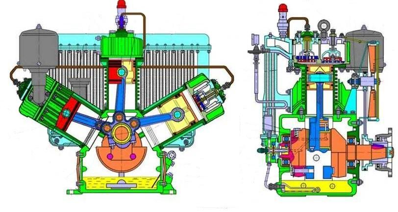 Поршневой компрессор - принцип работы