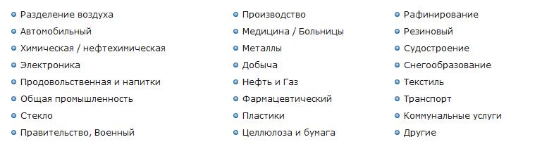 Сферы применения