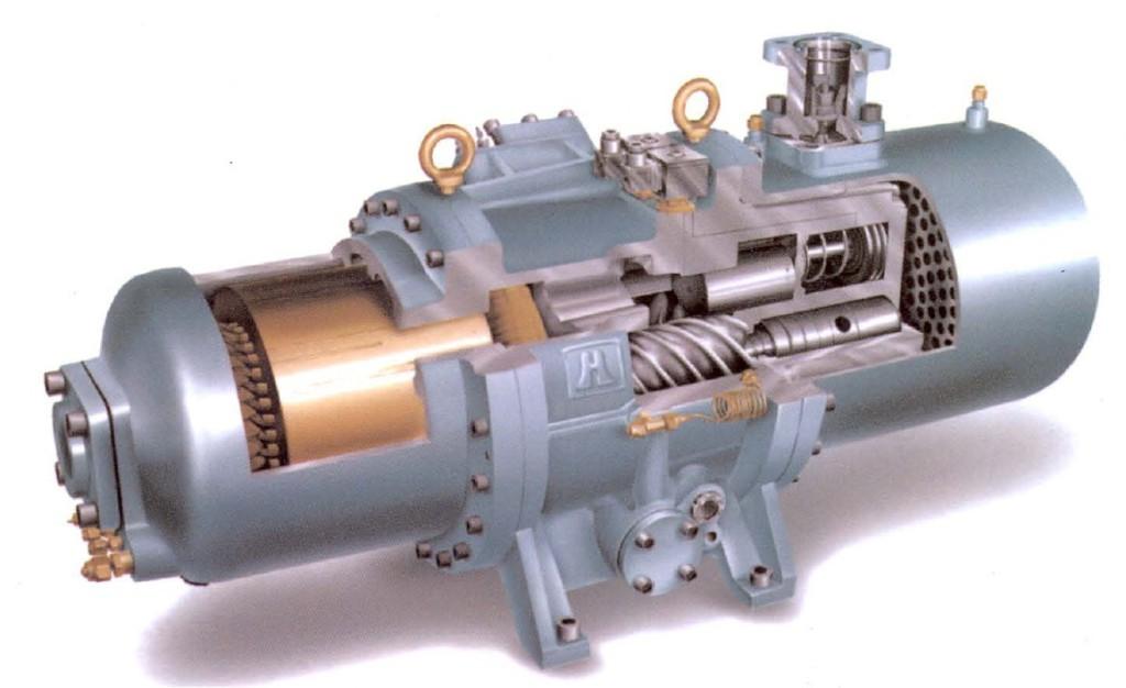 Винтовой газовый компрессор